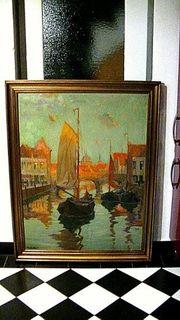 großes altes Ölgemälde 114 x