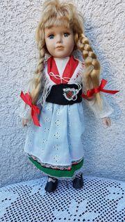 Bildhübsche alte Sammler-Porzellan-Puppe Leonore