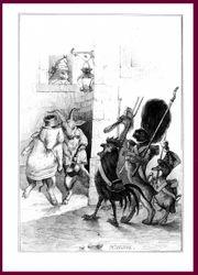 Tiere-Nächtliche Randale--Lithographie-Grafik-Ordnungshüter-Originallithographie