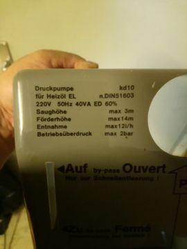 Heizölpumpe-Öldruckspeicher Eckerle KD 10: Kleinanzeigen aus Lehrensteinsfeld - Rubrik Elektro, Heizungen, Wasserinstallationen