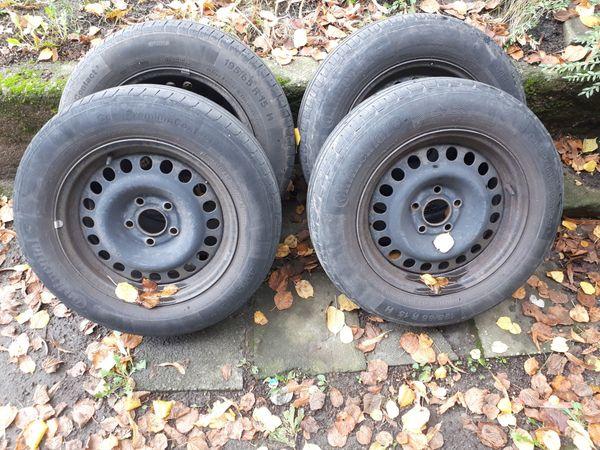 4 Reifen mit Stahlfelgen Opel