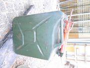 Oldtimer Blech Benzinkanister 20 Liter