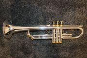 Trompete in B versilbert mit