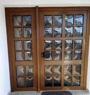 Kunststoff Haustür inklusive Seitenteil