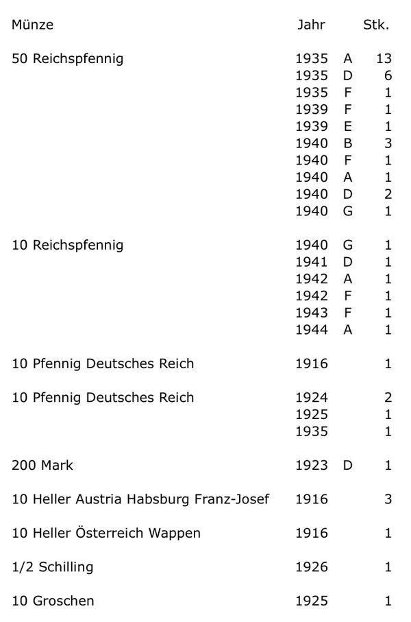 Diverse Münzen Reichspfennig Heller Schilling