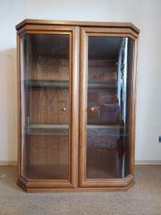 Vitrine Holz Glas