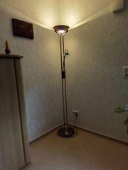 Stehlampe Deckenfluter mit Leselampe