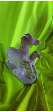 Porzellanfigur Pferde Wallendorf weiß
