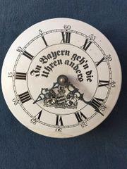 Bayrische Uhr Metall Emaille alt