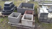 Pflanzkübel aus Betonstein Pflanzgefäß Gartenkübel