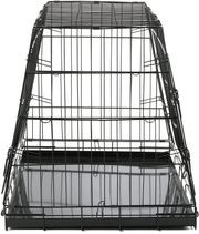 Abgeschrägte Gittertransportbox für Hunde
