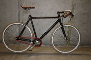 SingleSpeed Fixie Fahrrad Schwarz Custom