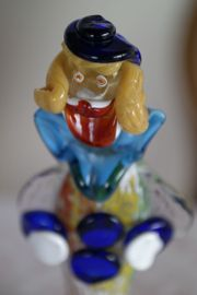Glasfigur der Clown