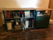 Werkbank mit Seitentisch