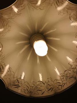 vintage Glaslampen Jugendstil Art Deco zu verkaufen
