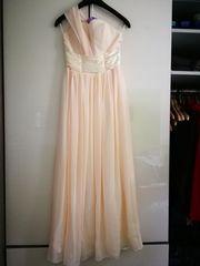 Langes Abendkleid pfirsichfarben Gr 36