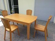 Buche Tisch mit 4 oder