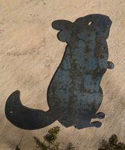 Chinchilla Figur aus Stahl