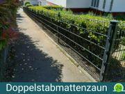 Doppelstabzaun 25mx1 83m Sichtschutz Beton