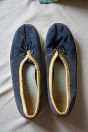 Schuhe Ballarinas blau gelb Größe