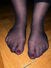 Getragene Socken schwarz