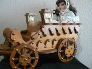 Alte Puppen Kutsche Holz mit