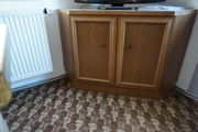 Wohnzimmerschrank 85x85cm Eiche rustikal aus