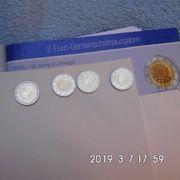 Deutschland 2 Euro Europaflagge Stempelglanz
