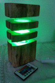LED-Naturholz-Tischleuchte