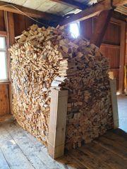 Brennholz stückig klein