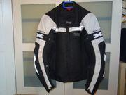 Motorradjacke IXS Levante schwarz weiß