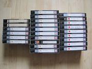 VHS-Videokassetten 25 Stck