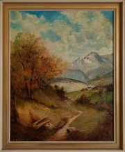 Antik-Gemälde KURT BAUER 1903 Albwiesenweg