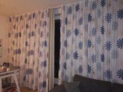 Gardine mit Thermo-Vorhang