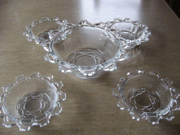 Glasschalen-Set 5-teilig für Eis Pudding Obst Salat usw.