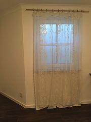 Vorhang Gardine mit Stange