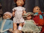 Konvolut alter Puppen Puppenwägen