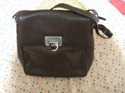 Ledertasche Schultertasche Handtasche Damentasche dunkelbraun