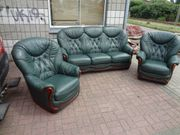 Ledersofa Garnitur 1 3er Sofa