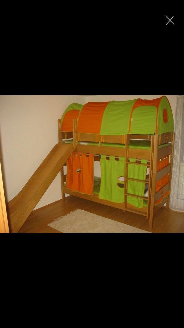 Kinder Etagenbett Stockbett mit Rutsche