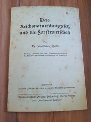Vorabdruck - Das Reichsnaturschutzgesetz und die