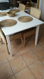 weißer Küchen Ess tisch kostenlos
