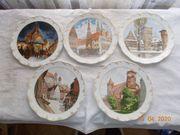 5 Rosenthal-Wandteller mit Nürnberg Motiven