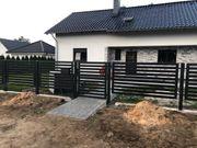 Holztreppe Metalzäune