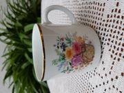 Neuwertiger edler Porzellan-Kaffeebecher von Bareuther