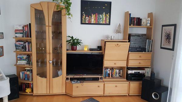 Wohnzimmer Wohnwand Massivholz