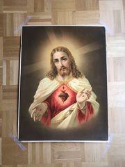 S COR JESU Heiligenbild 74x56cm
