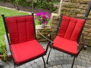 6 rote Gartenstuhlauflagen zu verkaufen