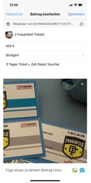 2 Frauenfeld Open air Tickets