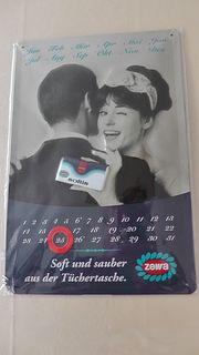 Neuer Zewa softis Blech - Kalender
